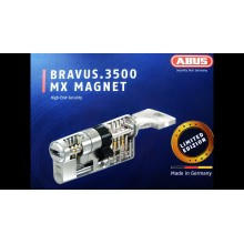 ABUS BRAVUS 3500 MX MAGNET. Размер 60мм-25х10х25 ключ/ключ. Модульный цилиндровый механизм.