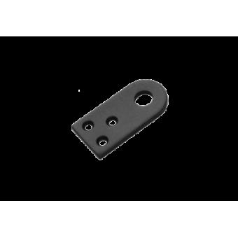 Домарт Проушина усиленная прямая 80*40 (толщ. 5мм)  черная (50)