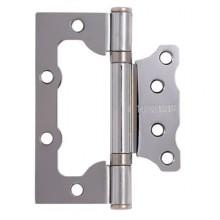 АЛЛЮР 100х75 2BB CP БЛИСТЕР 2,5мм хром Петля накладная без врезки 2 шт (50,25)