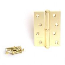 Апекс 100*70-B-Steel-G-L левая латунь Петля дверная 2 шт (50;5;1!!!)