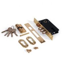 Апекс 1000/60-G золото  с  ц/м   м/о 61,5 Замок врезной б/руч (28,7)