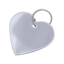 Брелок для гравировки - Сердечко  хром (1000,500,100)