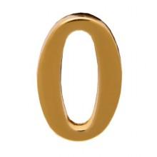 """Цифра дверная АЛЛЮР """"0"""" на клеевой основе  золото (600,20)"""