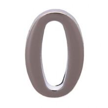 """Цифра дверная АЛЛЮР """"0"""" на клеевой основе  хром (600,20)"""