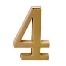 """Цифра дверная АЛЛЮР """"4"""" на клеевой основе  золото (600,20)"""
