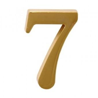 """Цифра дверная АЛЛЮР """"7"""" на клеевой основе  золото (600,20)"""