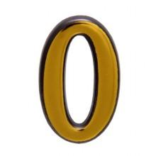 """Цифра дверная АЛЛЮР пластик """"0"""" золото (3000,100,20!!!)"""