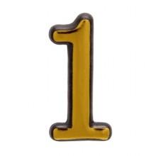 """Цифра дверная АЛЛЮР пластик """"1"""" золото (3000,100,20!!!)"""