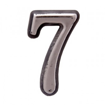 "Цифра дверная АЛЛЮР пластик ""7"" хром (3000,100,20!!!)"