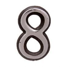 "Цифра дверная АЛЛЮР пластик ""8"" хром (3000,100,20!!!)"