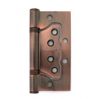 AVERS 100*75*2,5-B2-AC  медь 2 подшип.без врезки Петля дверная 2 шт (48,6)
