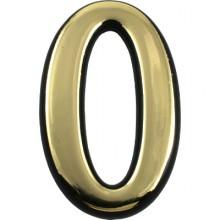 """Цифра дверная АЛЛЮР БОЛЬШАЯ пластик """"0"""" золото (1000,50)"""