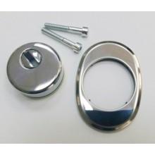Накладка для ц/м ДФ декоративная врезная 16-1 хром (50)