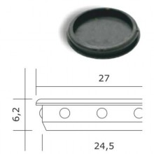 ДФ Заглушка отверстия Ф 25 черная (100,10!!!)