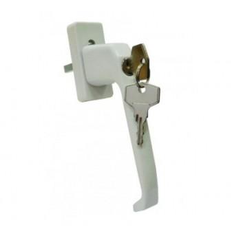 Ручка с ключом + кнопка д/пласт.окон V 356.45.38.8 белая (80)