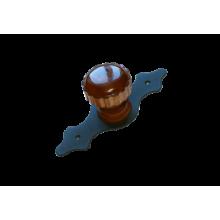 Домарт  мод.7 черный Ручка-кнопка декоративная (10)