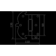 Домарт Петля фигурная 130*110 без покр (30)