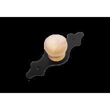 Домарт  мод.3 без лака черная Ручка-кнопка декоративная (10)
