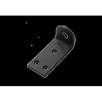 Домарт Проушина усиленная угловая 80*45*40  (толщ. 5мм)  черный (50)